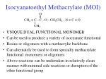 isocyanatoethyl methacrylate moi