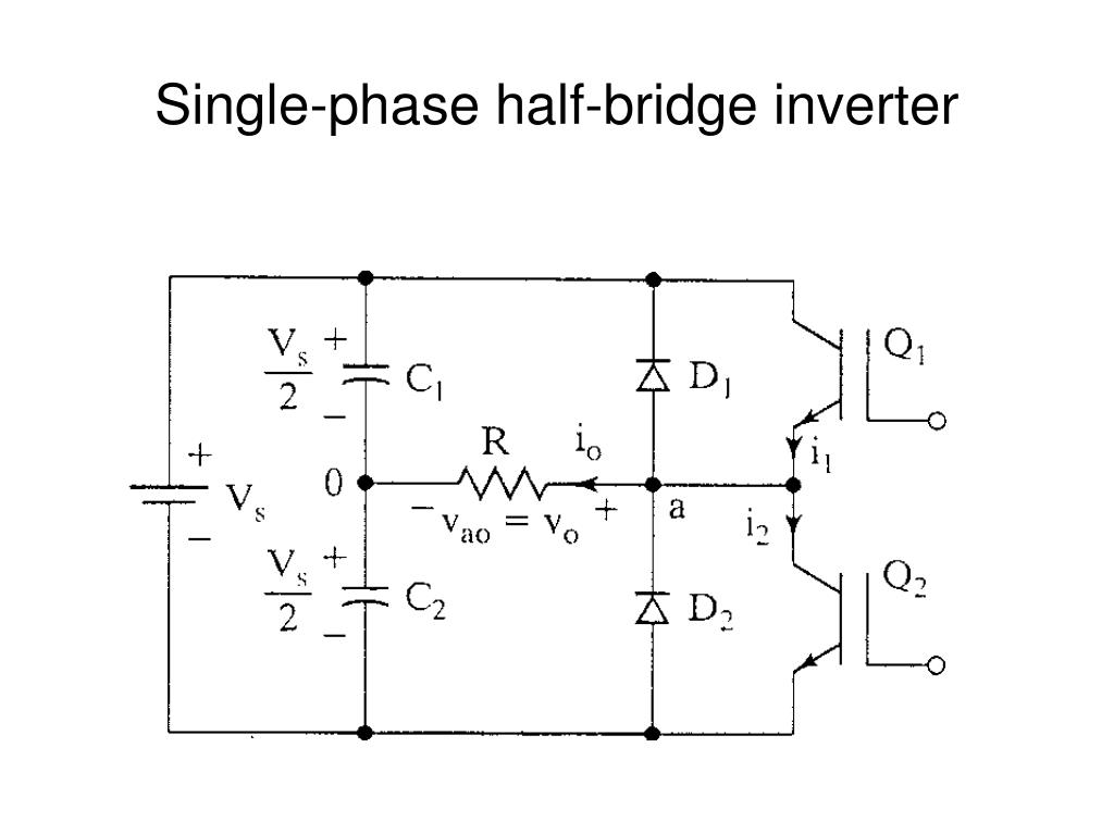 single phase half bridge inverter l.