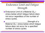endurance limit and fatigue strength