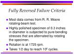 fully reversed failure criteria
