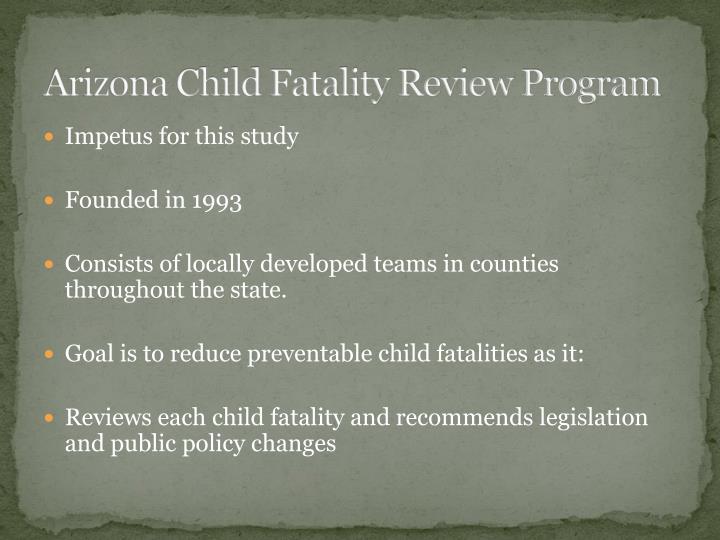 Arizona Child Fatality Review Program