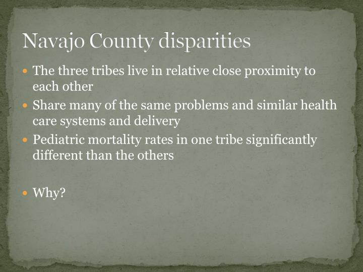 Navajo County disparities