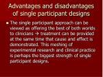 advantages and disadvantages of single participant designs20