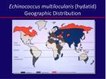 echinococcus multilocularis hydatid geographic distribution