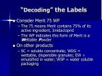 decoding the labels