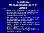 resistance management modes of action