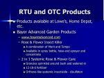 rtu and otc products