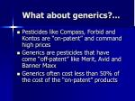 what about generics