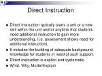 direct instruction