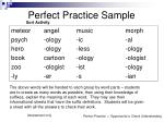 perfect practice sample