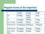 regular forms of the imperfect