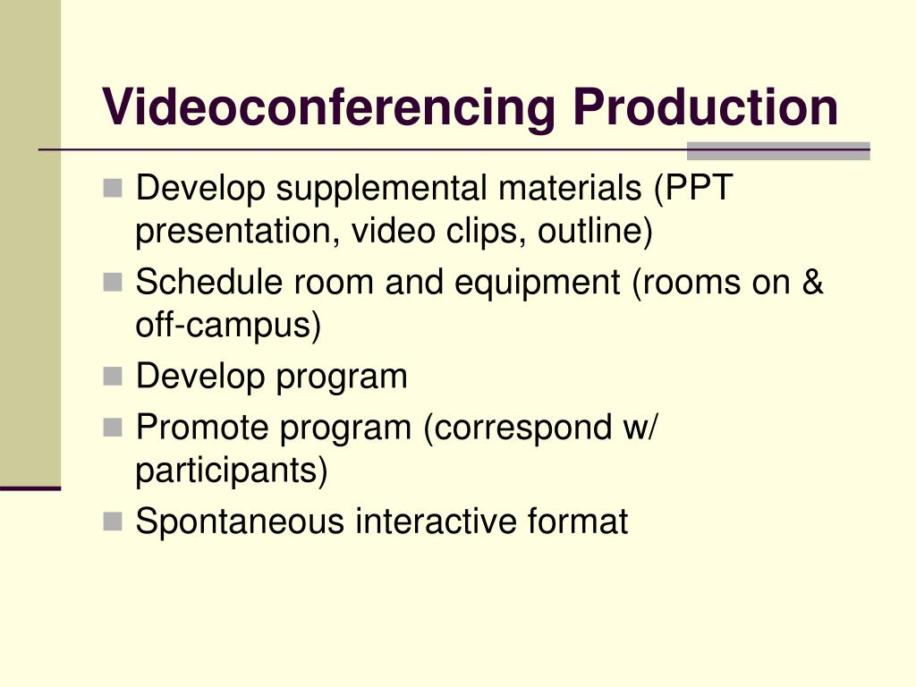 Videoconferencing Production