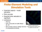 finite element modeling and simulation tools
