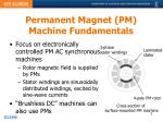 permanent magnet pm machine fundamentals