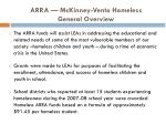 arra mckinney vento homeless general overview