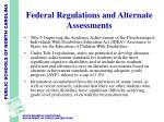 federal regulations and alternate assessments