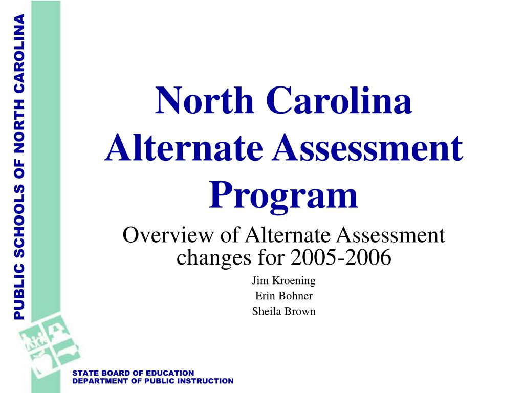 north carolina alternate assessment program l.