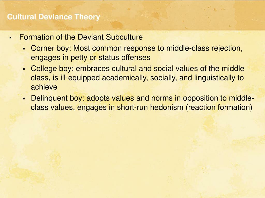 Cultural Deviance Theory