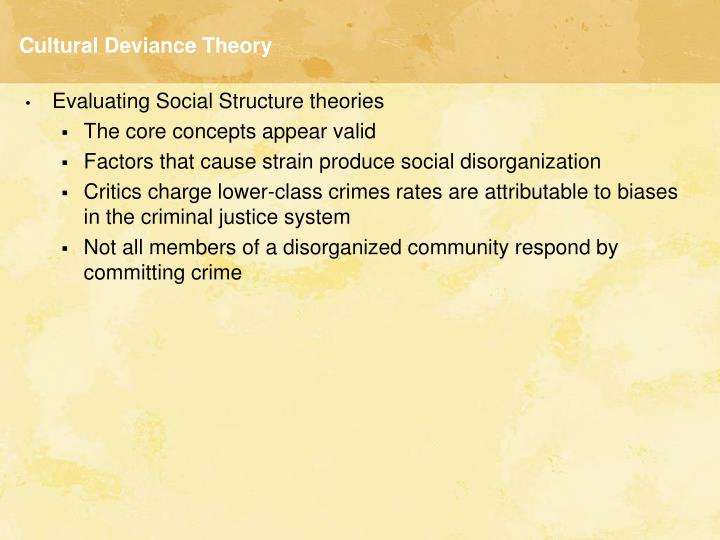 what is cultural deviance theory