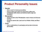 product personality issues