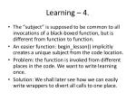 learning 4