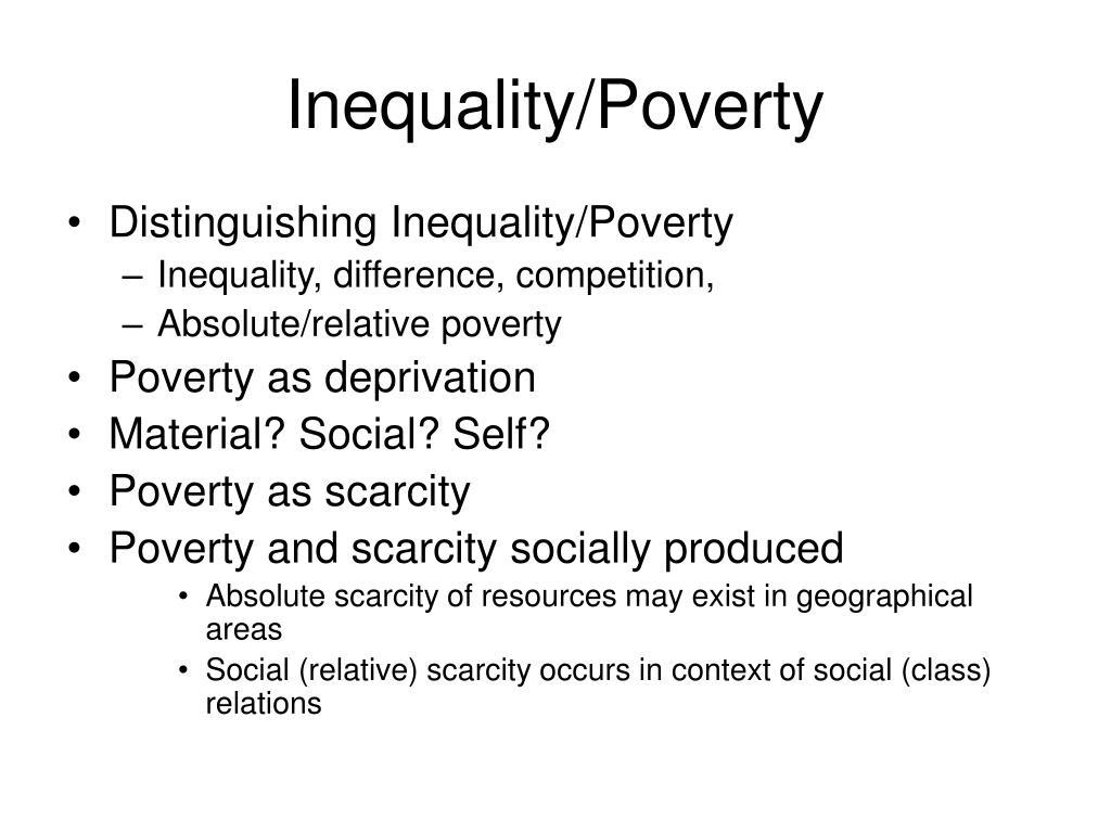 Inequality/Poverty