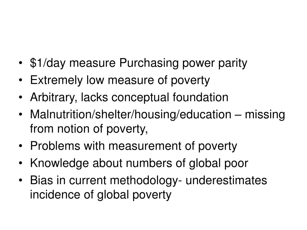 $1/day measure Purchasing power parity