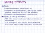 routing symmetry