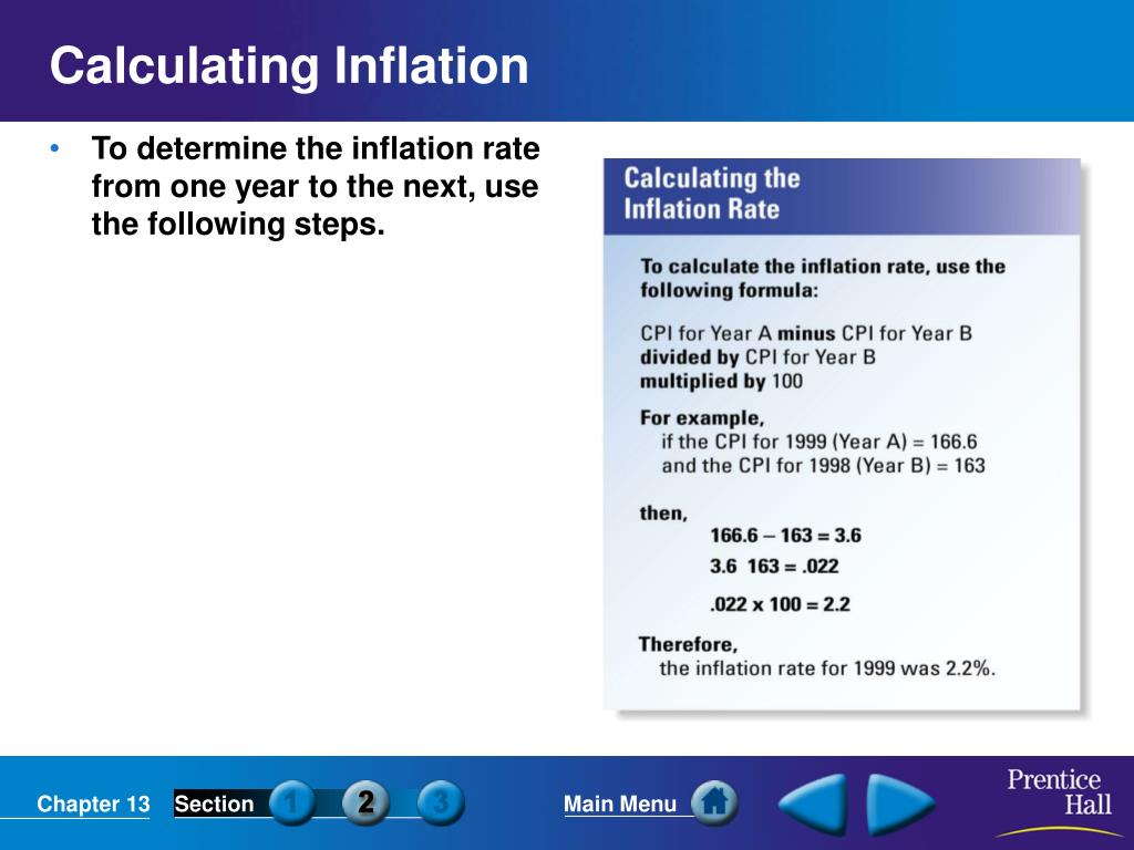 Calculating Inflation