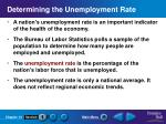 determining the unemployment rate