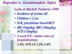 ibuprofen vs acetaminophen safety