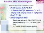 rectal vs oral acataminophen20