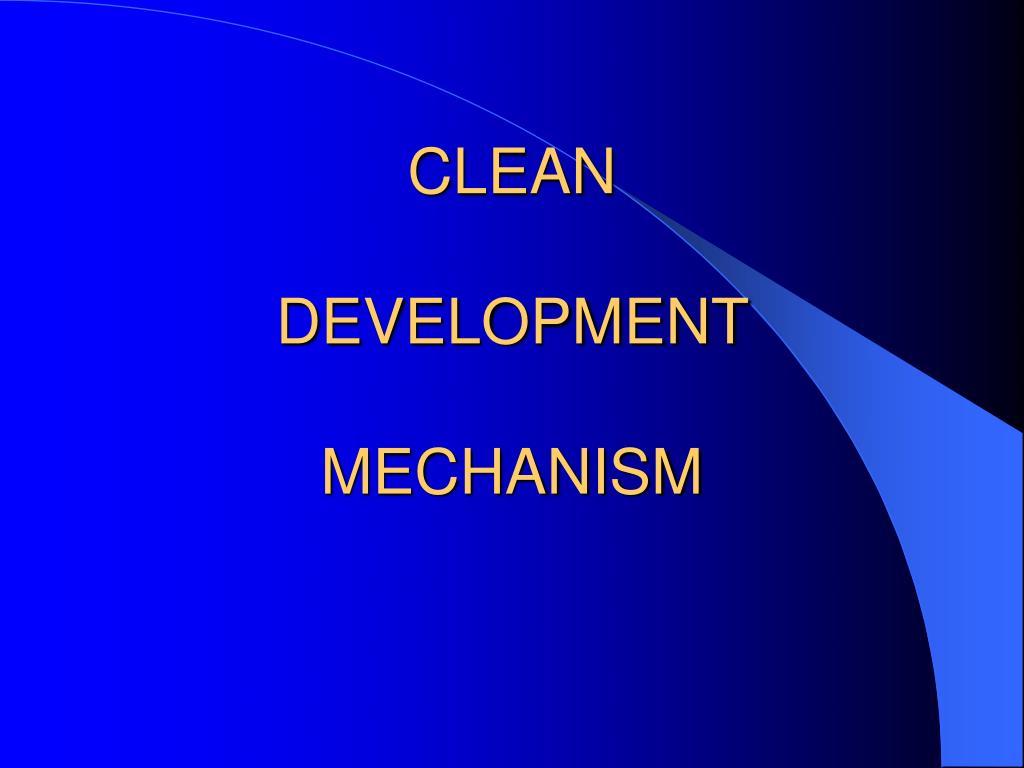 clean development mechanism l.