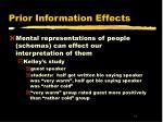 prior information effects