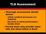 tls assessment