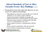 altered standards of care in mass casualty events key findings cont d1