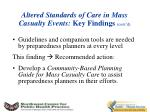 altered standards of care in mass casualty events key findings cont d2