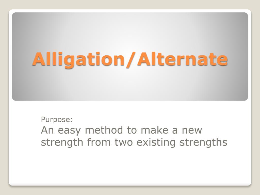 Alligation