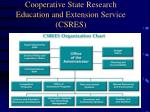 cooperative state research education and extension service csres