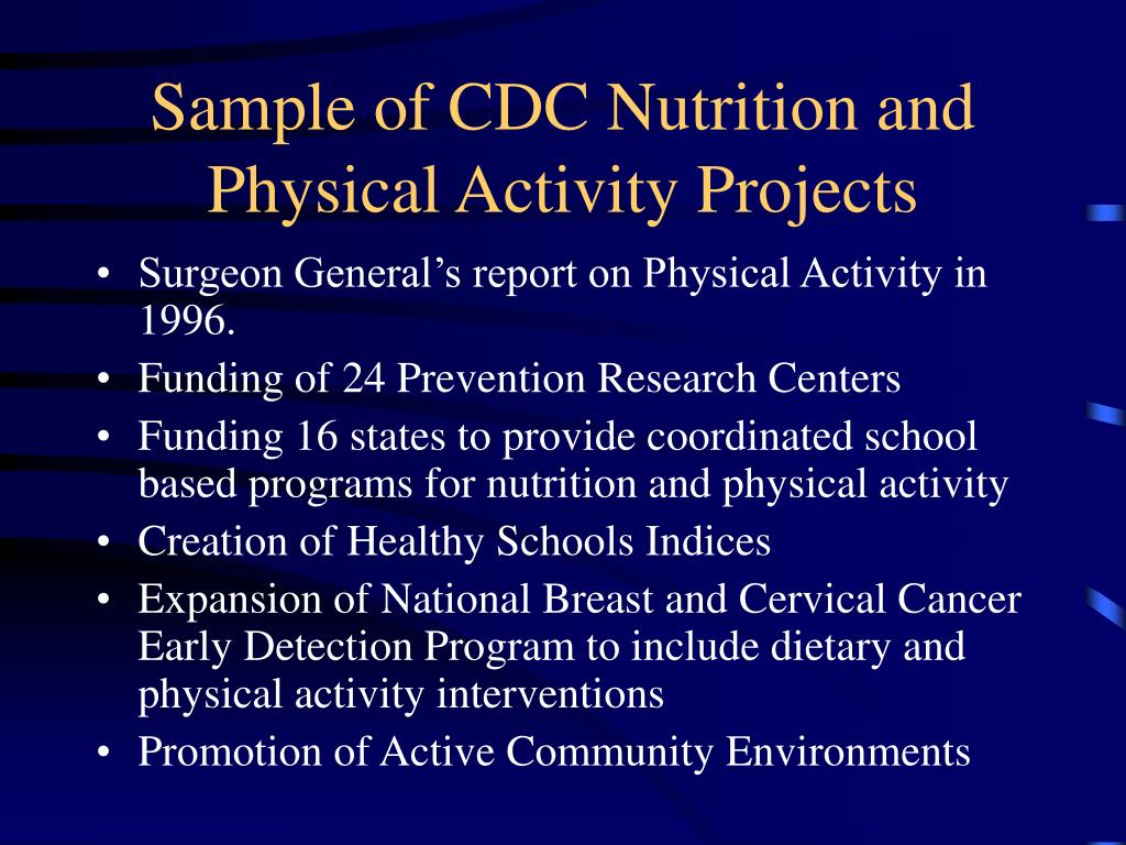 nutrition and physical activity