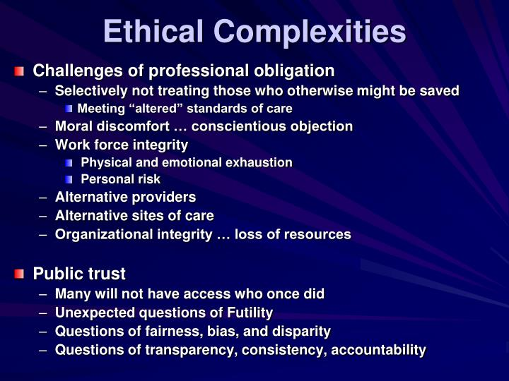 Ethical Complexities
