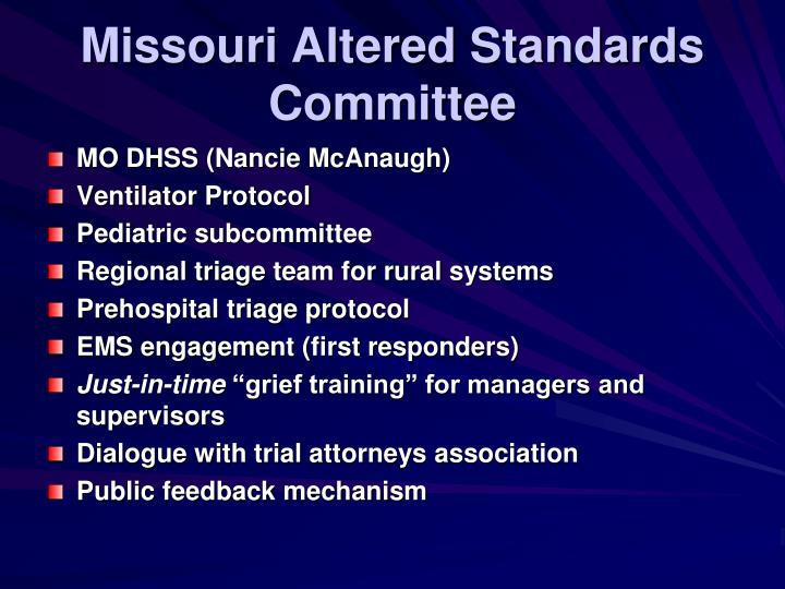 Missouri Altered Standards Committee