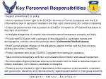 key personnel responsibilities
