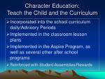 character education teach the child and the curriculum