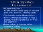 rules regulations implementations