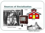 sources of socialization