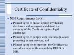 certificate of confidentiality55