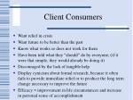 client consumers