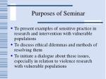 purposes of seminar