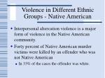 violence in different ethnic groups native american